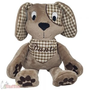 Dog Puppy Handmade Embroidered Stuffie Plushie Personalised